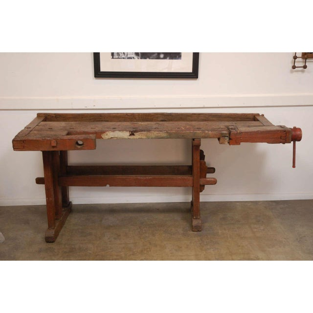Antique Hungarian Craftsman's Workbench For Sale - Image 4 of 8