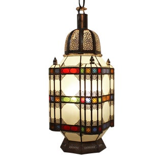 XL Moroccan Colorful Lantern For Sale