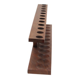 Vintage Wooden Pipe Holder / Pipe Stand For Sale