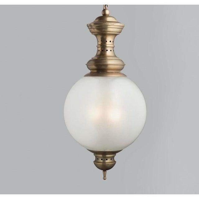 Metal 1950s Glass Lantern by Luigi Caccia Dominioni by Azucena For Sale - Image 7 of 7