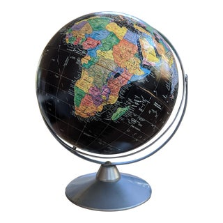 The George F. Cram Company's Imperial Black and White Globe For Sale