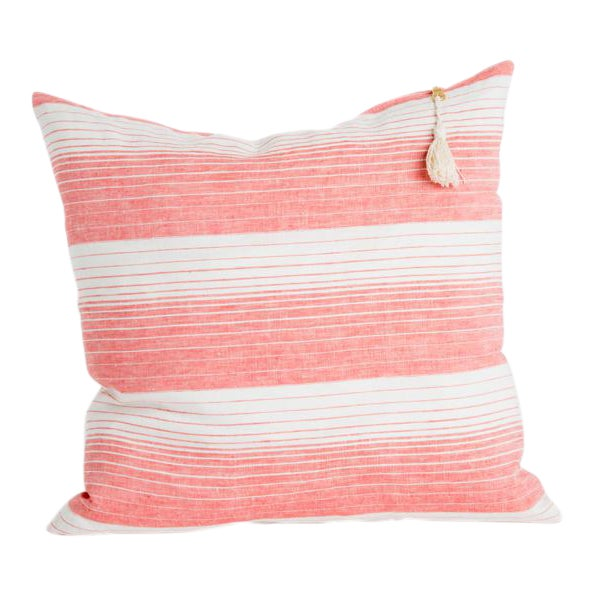 Cortina Coral Striped Pillow - Image 1 of 3