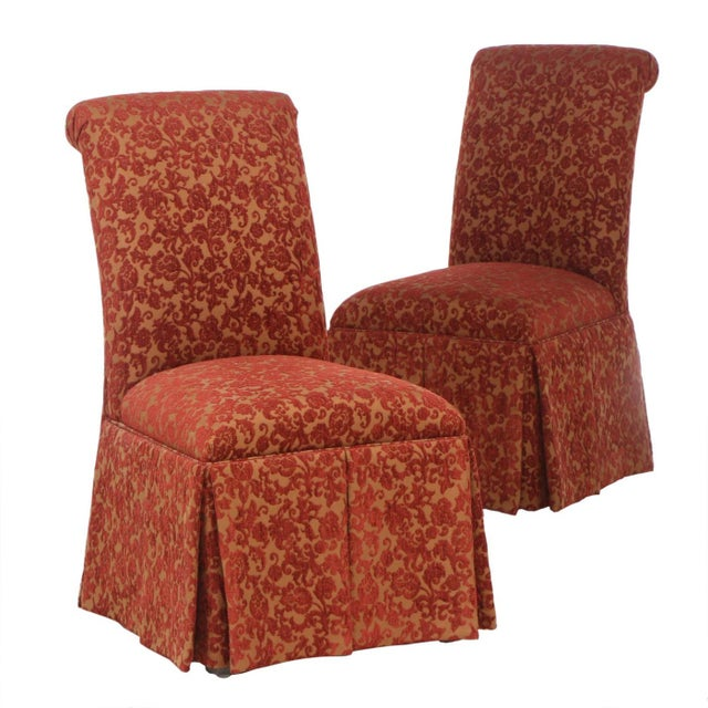Designmaster Furniture of North Carolina Upholstered Dining Chairs - a Pair For Sale - Image 11 of 11