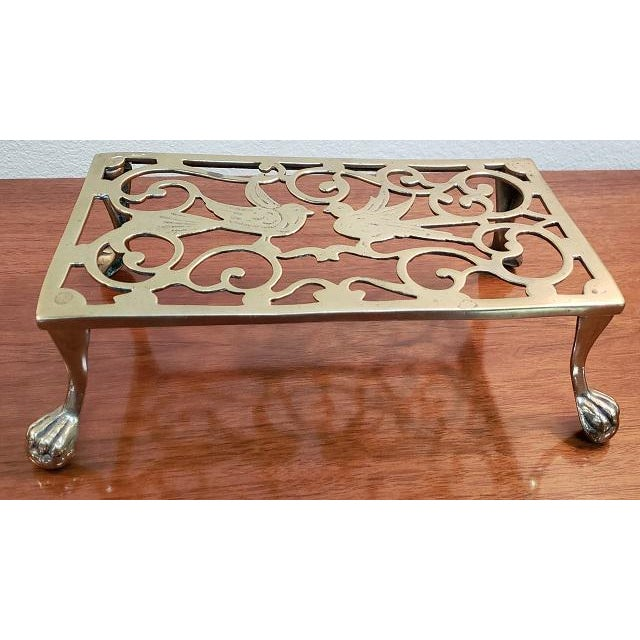 Brass George III Style Brass Fireplace Trivet For Sale - Image 7 of 7