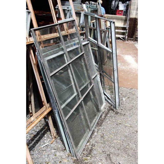 Metal Industrial 6 Pane Steel Frame Glass Window For Sale - Image 7 of 7