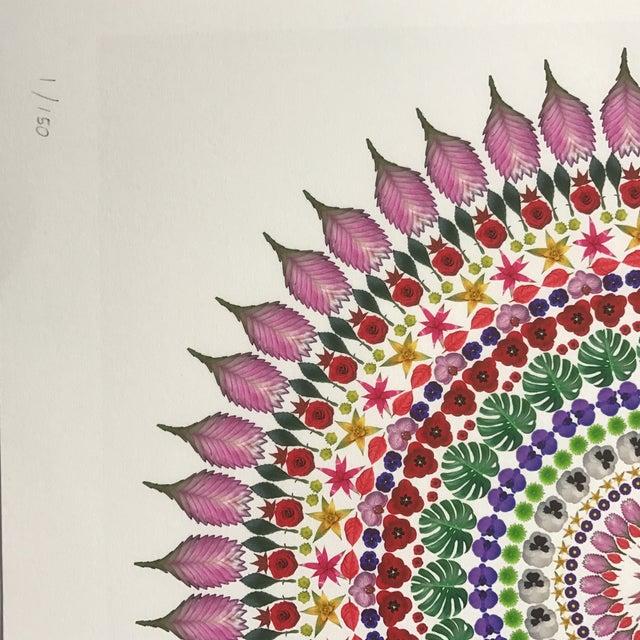 "Boho Chic ""Flower Mandala"" Print For Sale - Image 3 of 9"