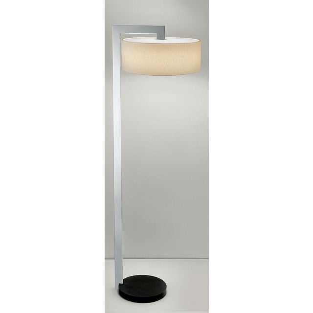 Chicago Lamp in Satin Black With Polished Chrome For Sale - Image 4 of 4