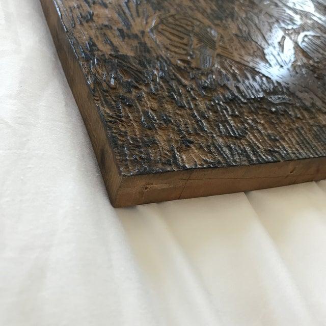 Handmade Wood Block Mushroom Art For Sale In Minneapolis - Image 6 of 9