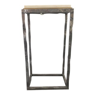 Contemportary Metal and Stone Table For Sale