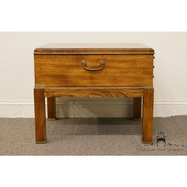 20th Century Contemporary Lane Furniture Bookmatched Walnut End Table For Sale - Image 12 of 13