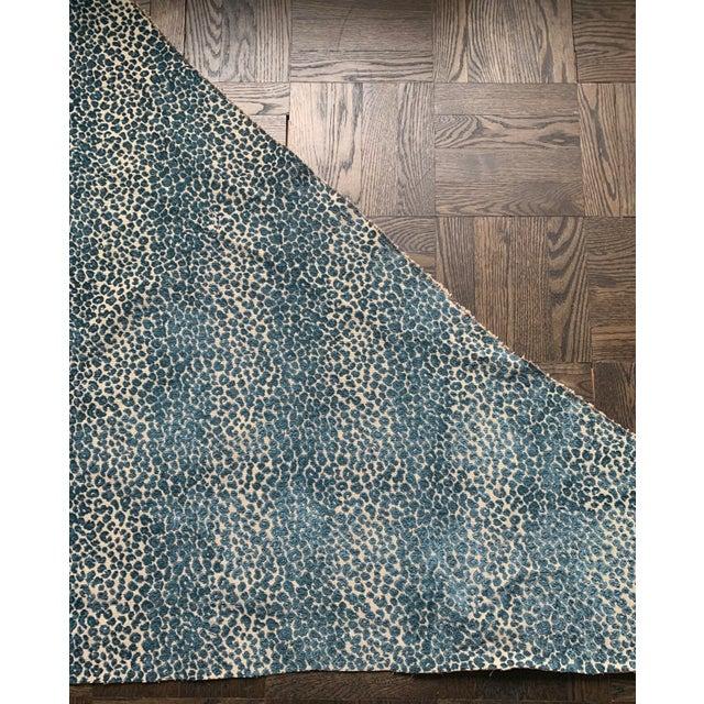 Cowtan & Tout Blue Leopard Cut Velvet Fabric For Sale - Image 4 of 10