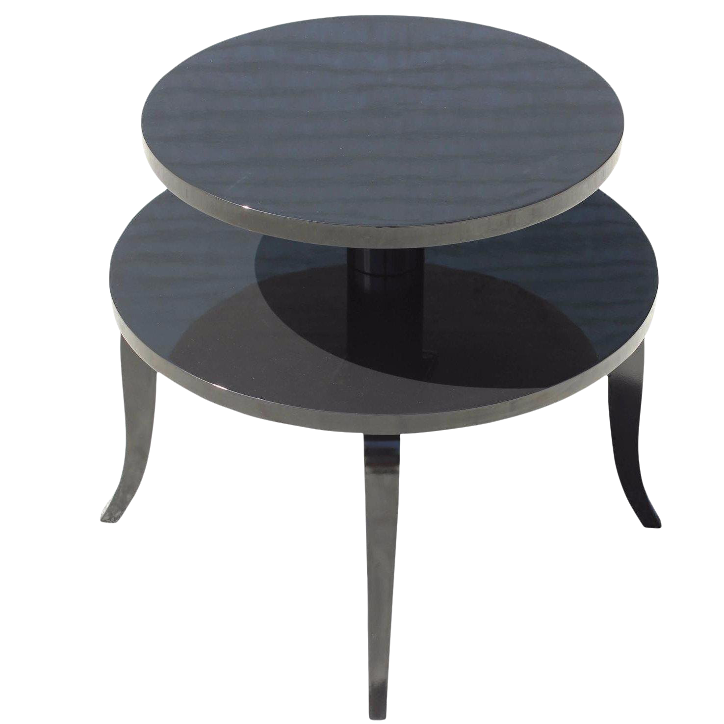 amelie white wash shabby chic country. Classic French Art Deco Black Lacquer Accent Or Side Table, Circa 1940s Amelie White Wash Shabby Chic Country J