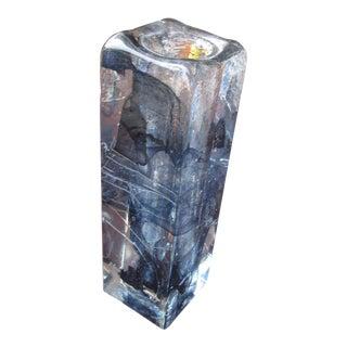 Vintage Brutalist Crystal Vase