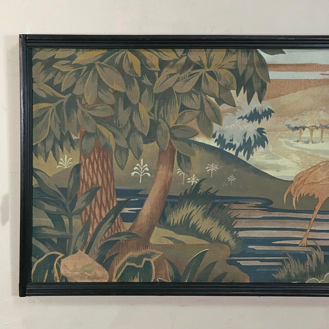 Art Deco Period Flemish Framed Tapestries-a Pair For Sale - Image 4 of 13
