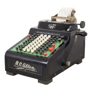"Antique Rc Allen ""95"" Figuring Machine C.1930 For Sale"