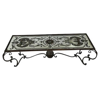 French Eglomise Mirror Coffee Table For Sale