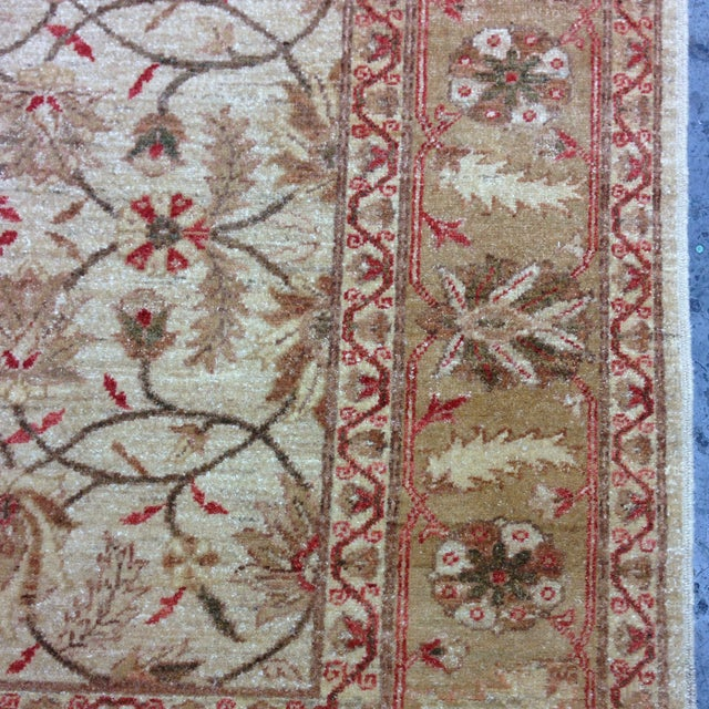 Red & Tan Floral Pattern Area Rug - 8' X 6' - Image 5 of 8
