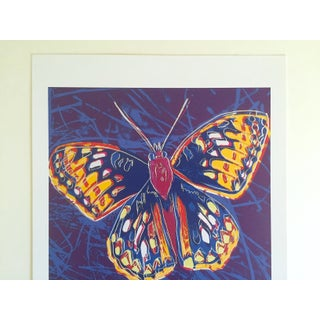 "Andy Warhol Estate Rare Vintage 1992 Endangered Species Collector's Lithograph Print "" San Francisco Silverspot Butterfly "" 1983 Preview"