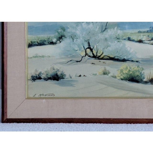 Evelyn E. McGinnis Mid-Century Watercolor Paintings - A Pair For Sale - Image 9 of 11