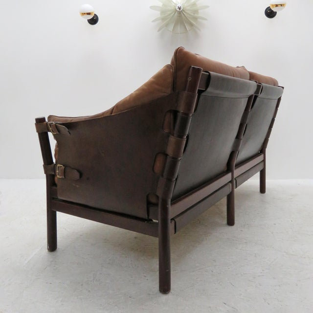 1960s 1960's Vintage 'Ilona' by Arne Norell Leather Settee For Sale - Image 5 of 13