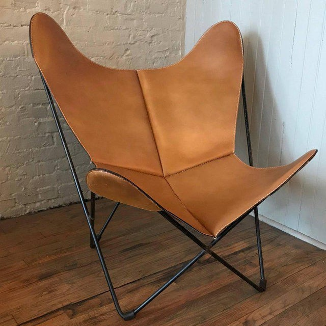 Jorge Ferrari-Hardoy for Knoll Leather Butterfly Chair For Sale - Image 9 of 9