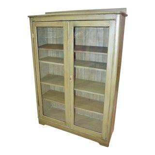 Antique Larkin Green Oak Bookcase For Sale