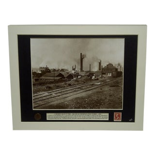 "1891 ""A Journey Back in Time - the Edgar Thompson Steel Works"" Multi-Media Collage For Sale"
