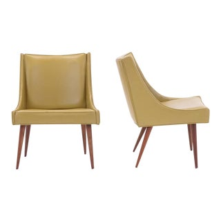 Pair of Milo Baughman for Thayer Coggin Slipper Chairs For Sale