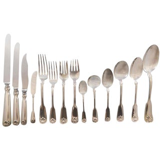 Shell & Thread by Tiffany Co Sterling Silver Flatware Service Set 178 Piece Dinner For Sale
