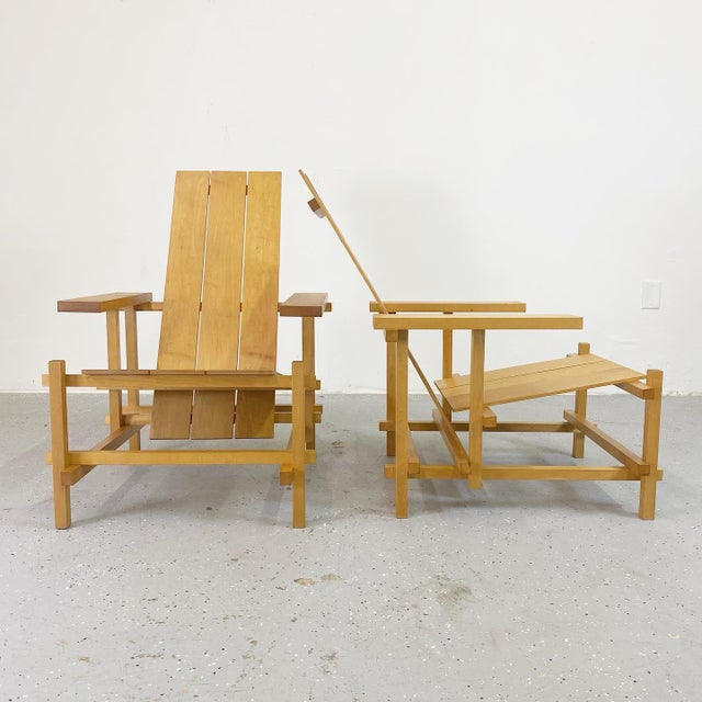 Gerrit Rietveld Gerrit Rietveld Style Lounge Chairs - a Pair For Sale - Image 4 of 4