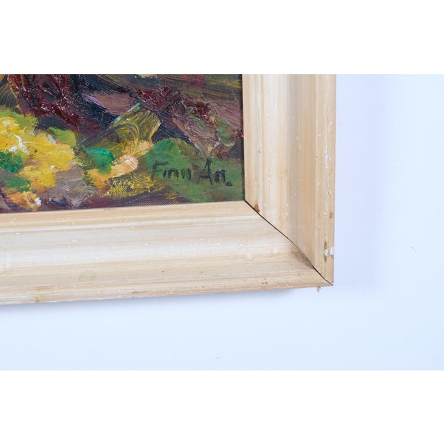 Canvas Expressionist Forest Lined Path by Finn Andersen For Sale - Image 7 of 8