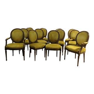 Jansen Louis XVI Style Dining Chairs - Set of 12