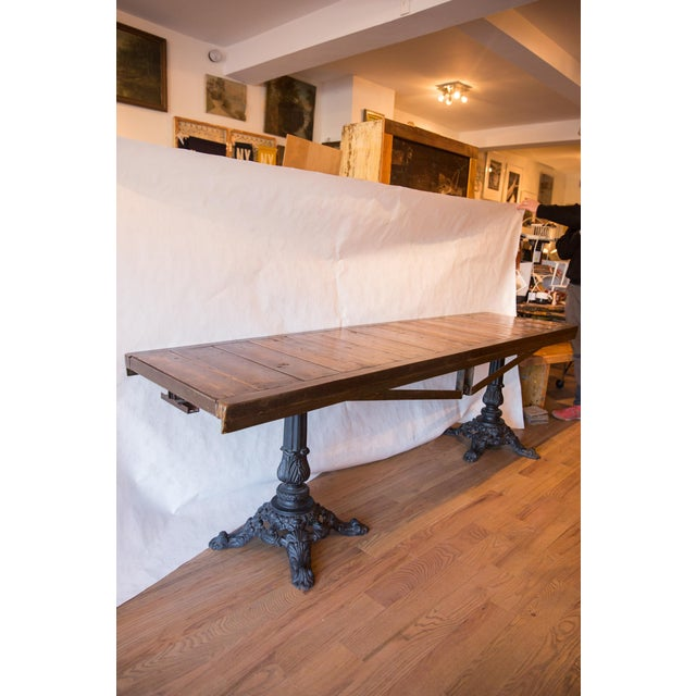 Made in Usa Reclaimed Wood Buffet Table For Sale In New York - Image 6 of 8