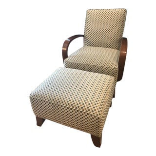 Thomasville Chair & Ottoman Set - A Pair