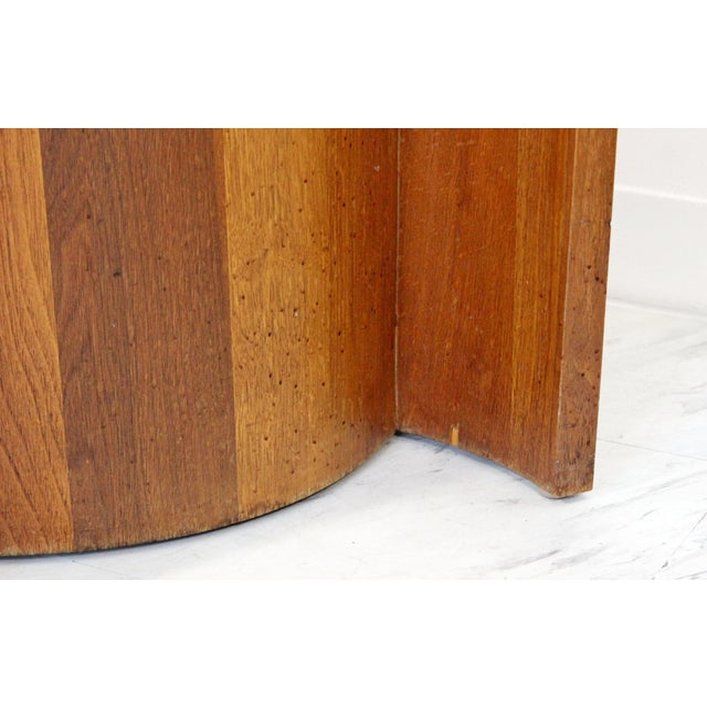 Brown Mid Century Modern Sculptural Wood Glass End Tables - a Pair For Sale - Image 8 of 11