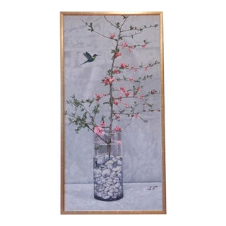 Cherry Blossom Acrylic on Canvas For Sale