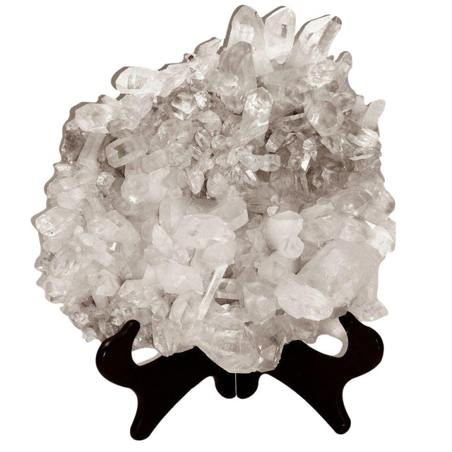 Large Quartz Crystal Cluster with Stand - Image 1 of 7