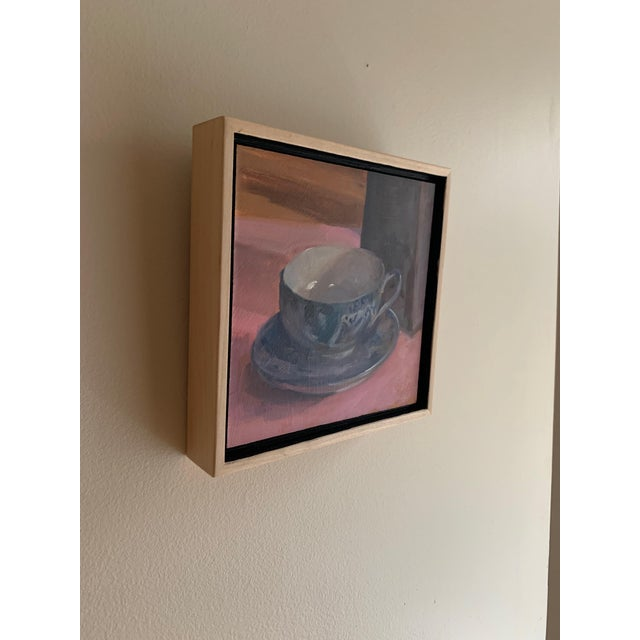Contemporary Painting of Teacup Willow Ware For Sale - Image 3 of 6