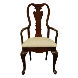 Late 20th Century Thomasville Furniture Collectors Cherry Collection Dining Arm Chair For Sale