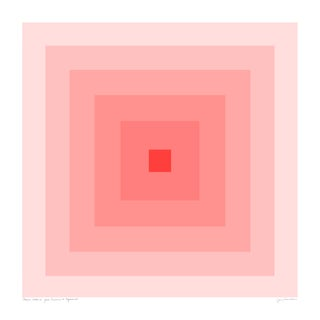 "Power Color 2: Your Presence Is Required (Blush to Crimson) Original Pigment Print - 20x20"" For Sale"