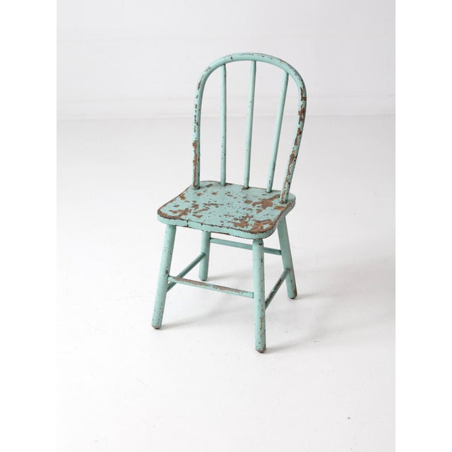 Vintage Children's Spindle Back Chair - Image 8 of 8