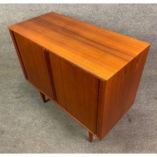Vintage Danish Mid Century Modern Teak Record Cabinet by Kai Kristiansen for Feldballes Mobelfabrik Preview