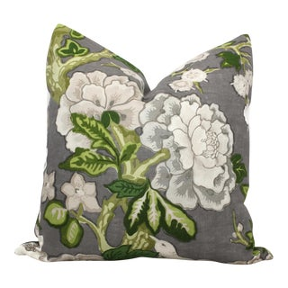 """20"""" x 20"""" Bermuda Blossoms Pillow Cover For Sale"""
