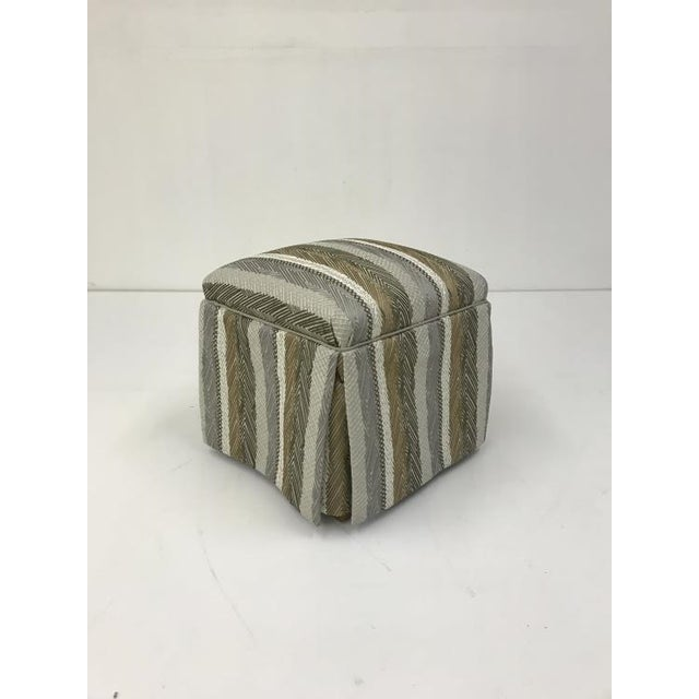 Transitional Century Furniture Dorothy Ottoman For Sale - Image 3 of 3