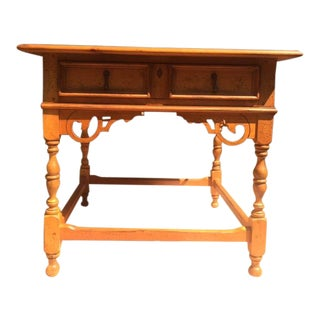 Americana Drexel Heritage Wooden End Table For Sale