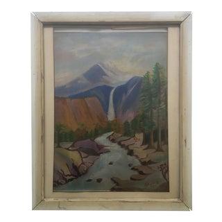 1940's Primitive Landscape Painting