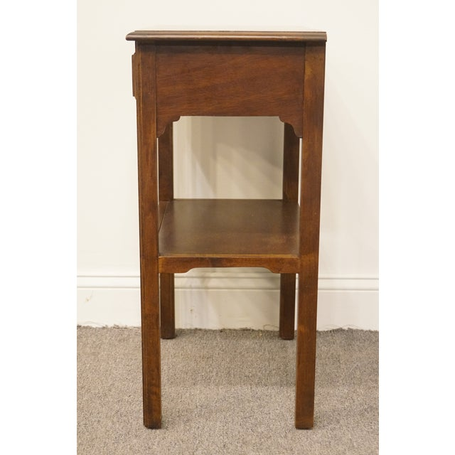 """20th Century Traditional Sherrill Furniture Banded Mahogany 18"""" Nightstand For Sale - Image 10 of 13"""