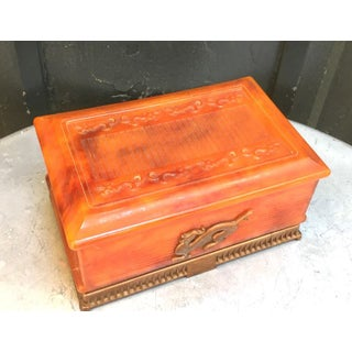 Tortoise Celluloid Jewelry Box Preview