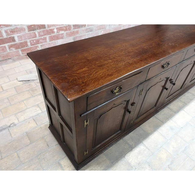 French Country Early 20th C. French Country Oak Sideboard Credenza Buffet Server For Sale - Image 3 of 13