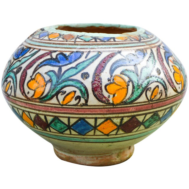 Moroccan Ceramic Vase For Sale In New York - Image 6 of 9
